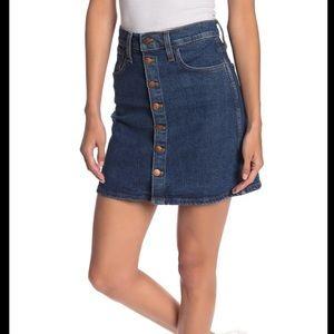 NWT  Madewell Button Front Denim Skirt